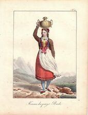 Hippolyte Lecomte Costume traditionnel paysanne Baden Autriche farblithografie 1819 inkunabel