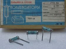 10x KBG-I --( 4700pF 10%, 200V )-- Ceramic PIO Capacitors КБГ-И NOS Made in USSR