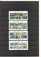 N°580  UMM ALL QIWAIN  4 mini-blocs oblitérés