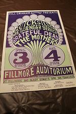 Grateful Dead BG9-RP-2 Mothers Quicksilver Concert Poster NM 2nd Pressing