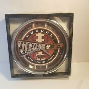 """Purdue Boilermakers12"""" Round Chrome Wall/Freestanding Clock The Memory Company"""