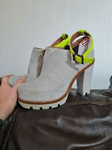 Ladies Hunter Ankle Strap High Heel Boots Size UK 4