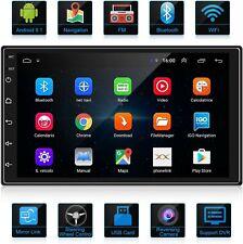 2 DIN Android 9.1 Radio del Coche Navegación GPS 7 Pulgadas 1080P HD Pantalla