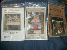 Lot of 3 Woodworking Patterns Garden Bench-Bird Feeder-Christmas