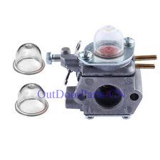 Carburetor & 2 primer bulb for 753-06190 MTD Weedeater Troy Bilt Ryobi Craftsman