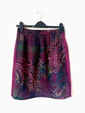 Vivere Alla Grande Milano Vintage Skirt UK10-12 Pink Cotton Wool Couture Look