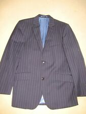 BLUE PIN STRIPE SUIT AUSTIN REED 32R TROUSERS 38R JACKET