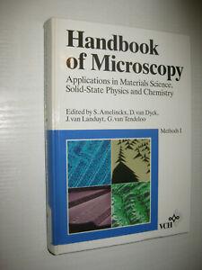 Handbook of Microscopy , Methods I von Amelinckx / van Dyck / Landuyt / Tendeloo
