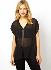 Polyester Party Patternless ASOS Tops & Shirts for Women