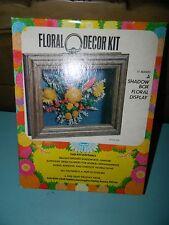 Vintage Floral Decor Shadow Box Craft Kit Mini Wall Decoration #1808