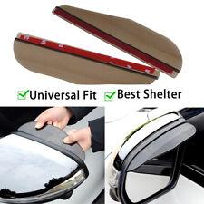 1 Pair Smoke Car Rearview Mirror Rain Water Rainproof Eyebrow Cover Side Shield
