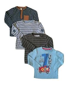 Baby Boy selection of long sleeve t-shirt clothe bundle  12-18m