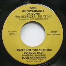 Pop Promo 45 Louis Armstrong - I Can'T Give You Anything But Love, Baby / I Can'