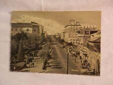 Vecchia foto cartolina d epoca di Ferrara viale Cavour giardini palazzi di per