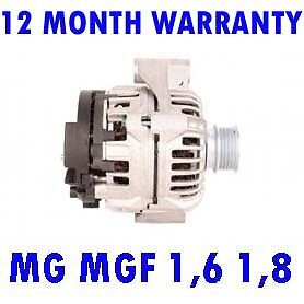 MG MGF 1,6 1,8 1995 1996 1997 1998 1999 2000 > 2002 REMANUFACTURED ALTERNATOR