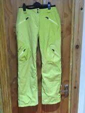 Mountain Force Ski Pants Trousers Ladies Large BNWOT Yellow/green 14/16