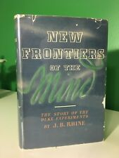 1937 New Frontiers of the Mind Rhine Duke Experiments ESP Parapsychology Occult