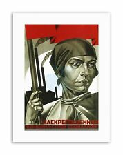 WOMEN SOLDIER EQUALITY SOVIET UNION COMMUNISM Poster Political Canvas art Prints