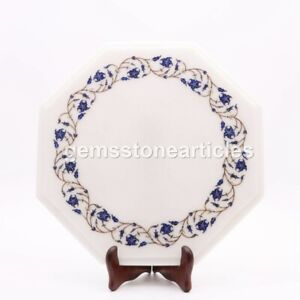 Marble Table ,Lapis Inlay, Breakfast Table, Living Room Furniture, Patio Décor