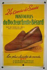 Affiche PANTOUFLES BERARD Les plus chaudes du Monde - Années.'50