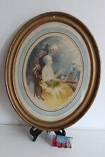 Aquatinte LE COLLIER Signé RAOUL FERRY Elégante Erotique Style Louis Icart