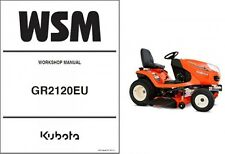Kubota GR2120 ( GR2120EU ) Ride on Mower Tractor WSM Service Workshop Manual CD