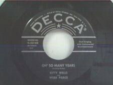 """KITTY WELLS """"OH SO MANY YEARS / CAN YOU FIND IT IN YOUR HEART"""" 45"""