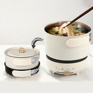 Multifunction Electric Hot Pot with Folding Handle Mini Portable Cooker