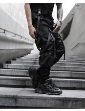 Men Boys Techwear Elastic Waist Harem Pants With Pocket Hip-Hop Casual Trousers