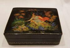 "Palekh Палех Russian Lacquer Box ""A Princess Frog"" 1975  Samokhin"