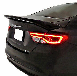 PAINTED PSC BILLET SILVER CHRYSLER 200 FACTORY STYLE REAR WING SPOILER 2015-2017