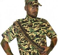 CARTOUCHIERE Militaire 96 balles plastique Déguisement Armée Rambo NEUF