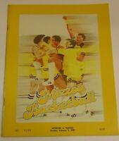 Vintage 1981 Missouri Tigers vs Kansas Jayhawks NCAA Basketball Program KU MU