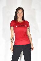 MOSCHINO LINGERIE T-Shirt Rossa Mezza Manica Casual TG IT 42 - M Donna Woman