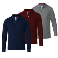 D555 DUKE BIG TALL MENS POLO SHIRT LONG SLEEVE LONGER LENGTH 4 COLOURS (T16169)