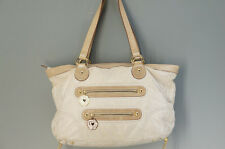 Authentic ANNA SUI Tote Bag Beige Nylon Free Shipping 699f36