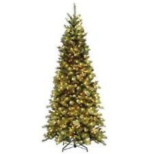 Christmas Tree Artificial Tiffany Fir Slim 4.5 foot 250 clear lights