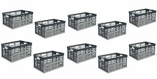 10 x Pro - Foldable box TUV certified 45 L bis 50 kg silver / grey Folding Crate