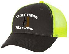 Cap Hat Embroider Gray Neon Yellow Mesh Personalized Hound Dog Coon Hunter Plott