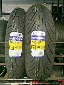 120/70ZR17 & 180/55ZR17 MICHELIN PILOT ROAD 4 TL MOTORCYCLE TYRES MATCHED PAIR!