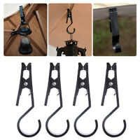 4PCS Outdoor Tent Canopy Cloth Clip Hook Holder Multifunctional Tool Tent Pegs~