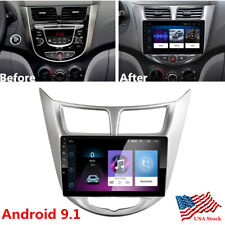 For 2010-2016 Hyundai Accent 9 Inch Android 9.1 Car Radio Gps Navigation Wifi Us