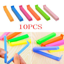 10 pcs Kitchen Storage Food Snack Seal Sealing Bag Clips Clamp Plastic New