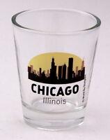 CHICAGO ILLINOIS SUNSET SKYLINE NEW SHOT GLASS SHOTGLASS
