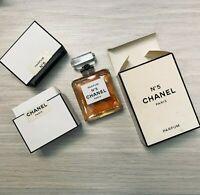 CHANEL No 5 pure parfum flacon 28ml/.9oz NIB Vintage *Rare*