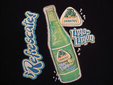 Jarritos Mexican Soft Drink Soda Pop Lima Lemon Refrescate Black T Shirt XL