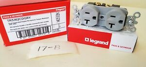 Lot of 10- Pass and Seymour TR5362CD-GRY Dual Controlled Duplex 20A 125V Gray