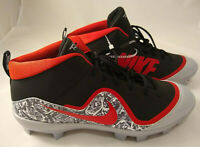 Nike Force Air Trout 4 Pro MCS Mens Baseball Cleats 917922-060 Blk/Gry/Red Sz 13