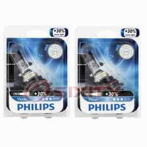 2 pc Philips High Low Beam Headlight Bulbs for Ford Aerostar Bronco Cougar ck