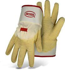 Boss Gloves 8424 Power Grip+ Latex Dipped Glove, Large, Tan